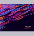 neon speed line streak motion background design vector image