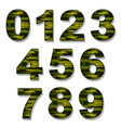 numbers military camouflage vector image