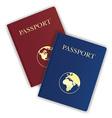 passport 03 vector image vector image