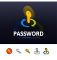 Password icon in different style vector image vector image