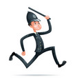 policeman run security protection order law 3d vector image vector image