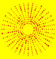 random dots radial halftone element pop art red vector image