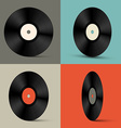 Retro Vinyl Records Set vector image vector image