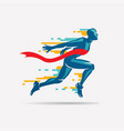 running man symbol sport and competition concept vector image vector image