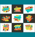 sale with exclusive offer and best choice posters vector image vector image