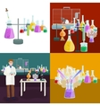 Scientists lab concept with man making research vector image