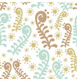 seamless pattern with the image of abstract plants vector image vector image