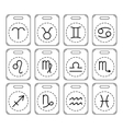Signs of zodiac for horoscope predictions Black vector image