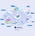 smart grid system diagram isometric vector image