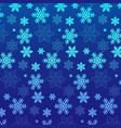 snowflakes full color and lines pattern on blue vector image vector image