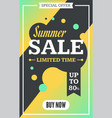 social media summer sale banner vector image