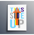 this side up poster abstract design vector image vector image