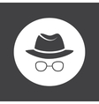 Unknown man in hat and glasses Detective Spy vector image vector image
