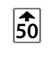 usa traffic road signs speed limit changes vector image vector image