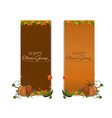 vertical banner set for thanksgiving vector image