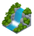 waterfall in tropical forest build your own vector image vector image