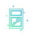 window icon design vector image vector image