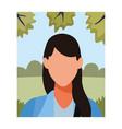 woman faceless avatar profile