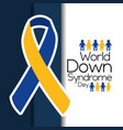 world down syndrome day flying campaign vector image