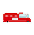 fire truck isolated transport on white background vector image