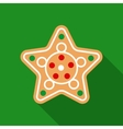 Christmas Gingerbread in Flat Style with Long vector image