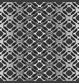 metallic grid with shadow on black seamless vector image