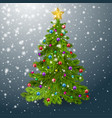 the christmas tree is decorated with balls a vector image