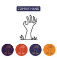 zombie hand from hell vector image