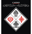 Casino sign with Card Suit symbol vector image