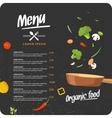 Modern background for restaurant menu vector image