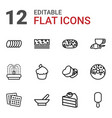 12 chocolate icons vector image vector image