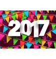 2017 new year pink background vector image