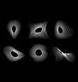 3d circular striped emblem set three dimensional vector image
