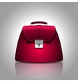 a burgundy women female handbag vector image vector image
