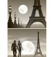 a Couple Strolling through Paris vector image