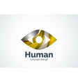 Abstract business company human eye logo template vector image vector image