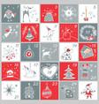 advent calendar christmas childish poster vector image vector image