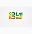 b y rainbow colored alphabet letter logo vector image