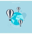 Balloon icon World travel concept background vector image vector image