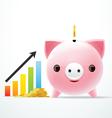 bank pig graph vector image