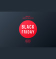 black friday sale banner minimal style black vector image vector image
