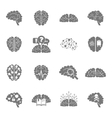 Brain icons black vector image vector image