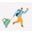 businessman travel concept vector image