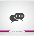 chat icon simple vector image vector image