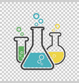 chemical test tube pictogram icon laboratory vector image