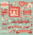 christmas design element set vector image