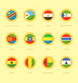circular flags of democratic republic of the vector image vector image