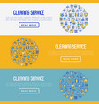 cleaning service concept with thin line icons vector image vector image