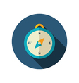 Compass flat icon Summer Marine vector image vector image