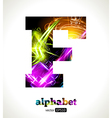 Design Abstract Letter F vector image vector image